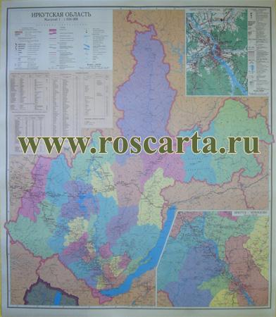 Карта Иркутской области.