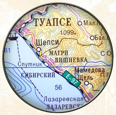 Краснодарский край - карта