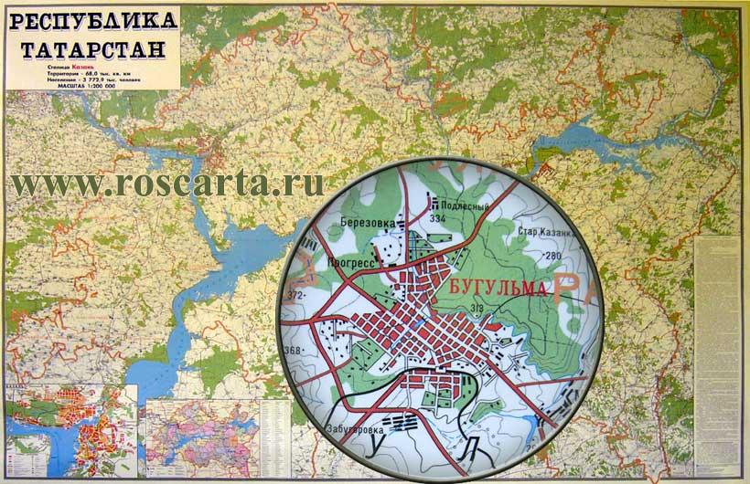 Где находится Республика Татарстан на карте