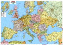 Карта европы политическая большая