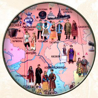 Настенная политическая карта мира для